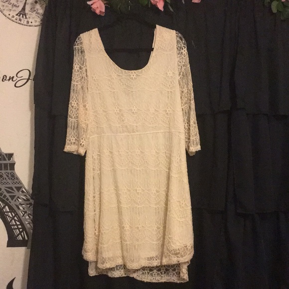 Rue 21 Cream plus size lace dress NWT